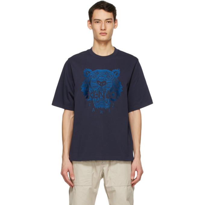 Photo: Kenzo Navy Oversized Embroidered Tiger T-Shirt