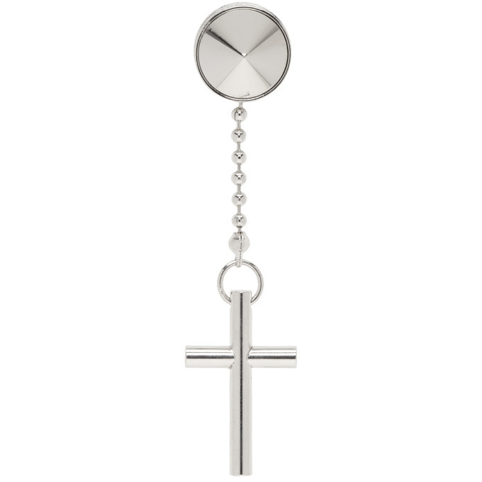 Photo: Dsquared2 Silver Cross Earring