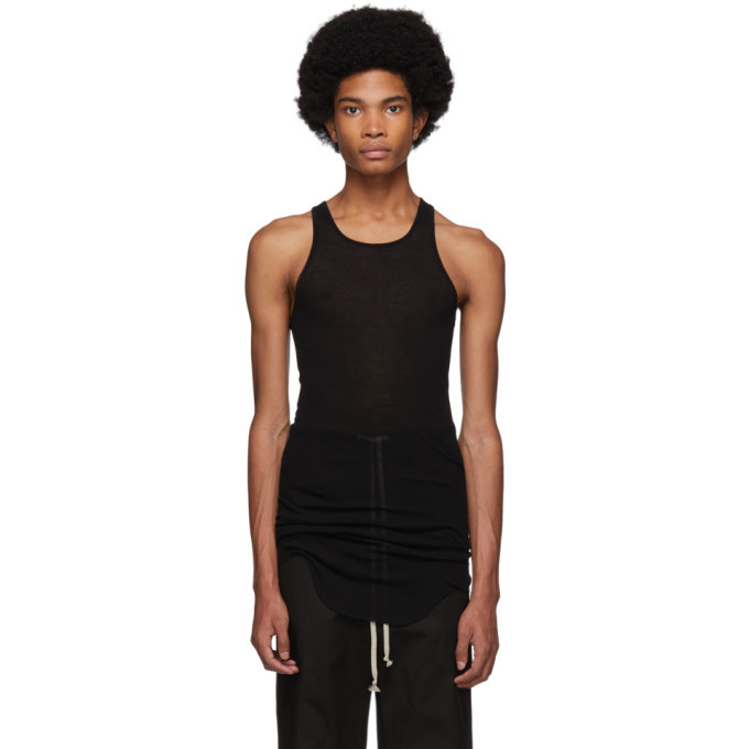 Photo: Rick Owens Black Basic Rib Tank Top