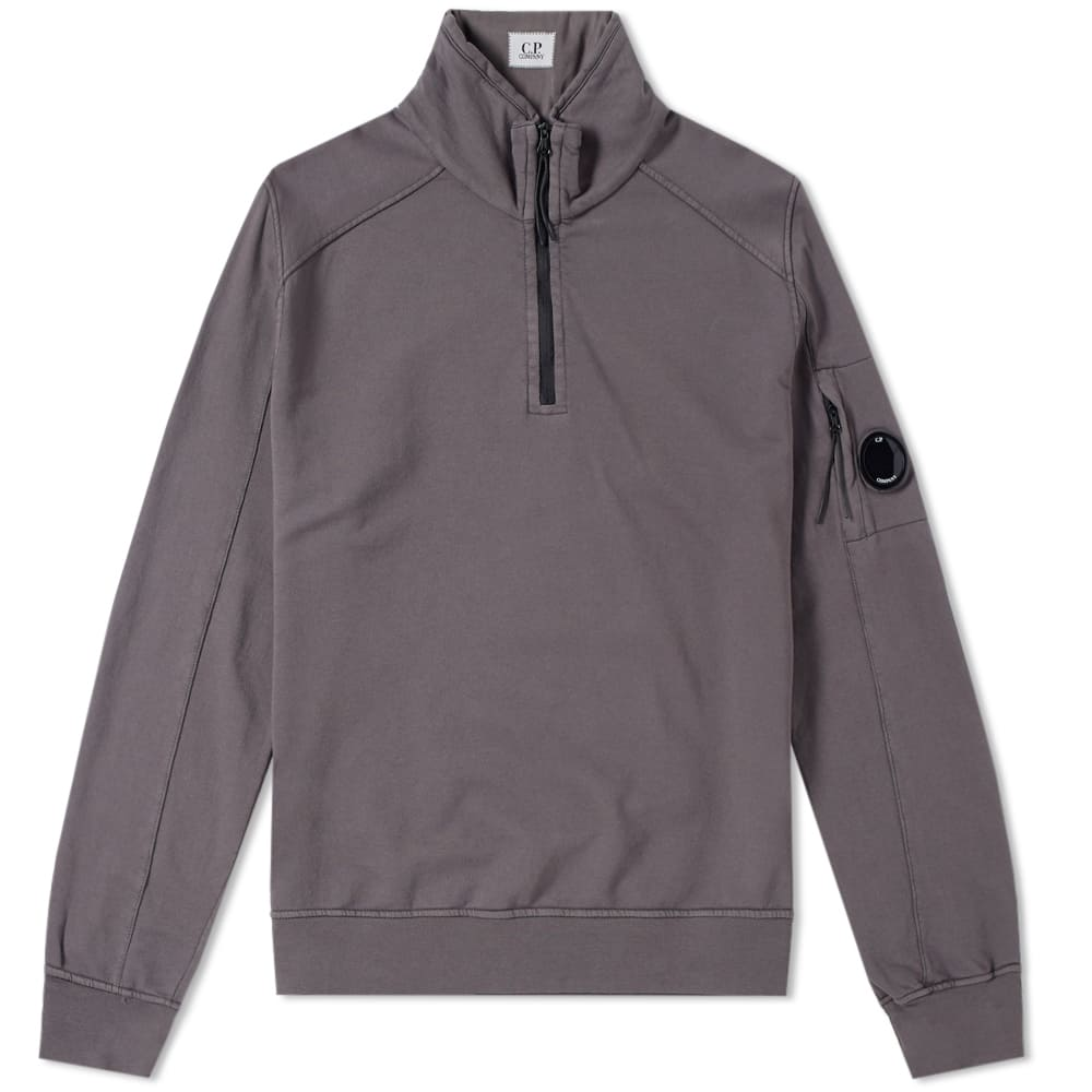 C.P. Company Garment Dyed Light Fleece Half Zip Sweat
