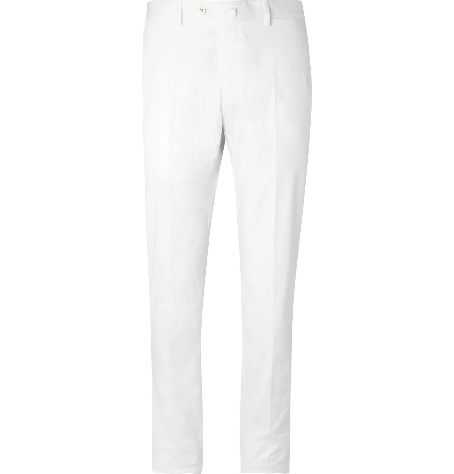Photo: Odyssee - Combes Cotton-Blend Twill Chinos - White