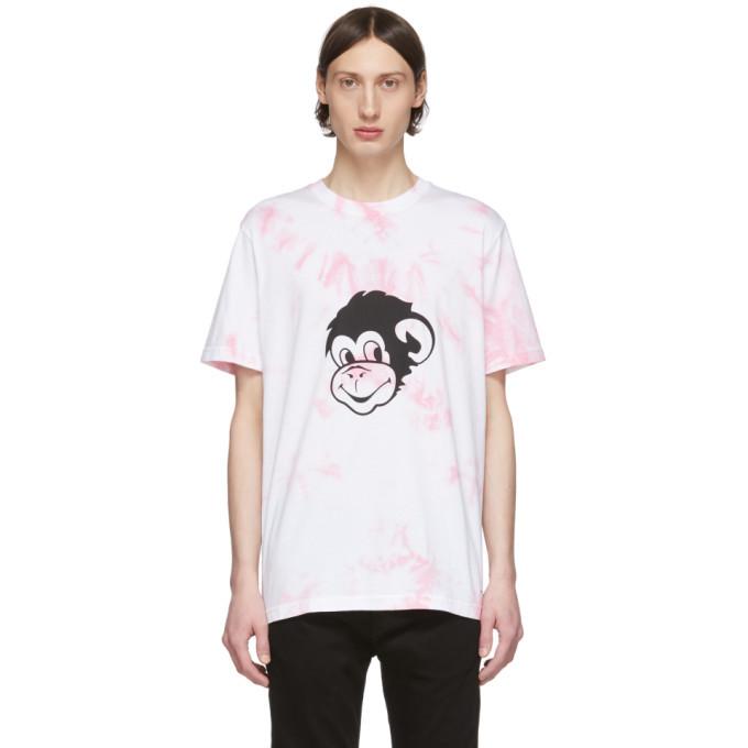 Photo: PS by Paul Smith White Tie-Dye Graffiti Monkey T-Shirt