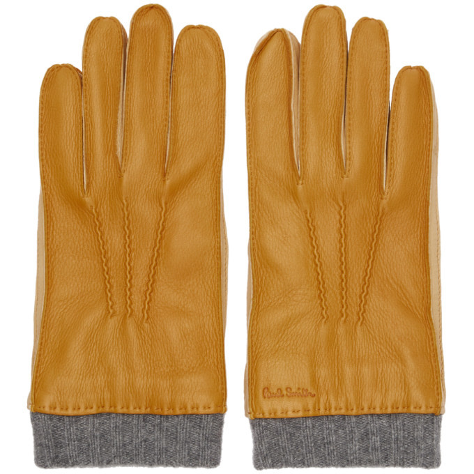 Photo: Paul Smith Tan Leather Gloves