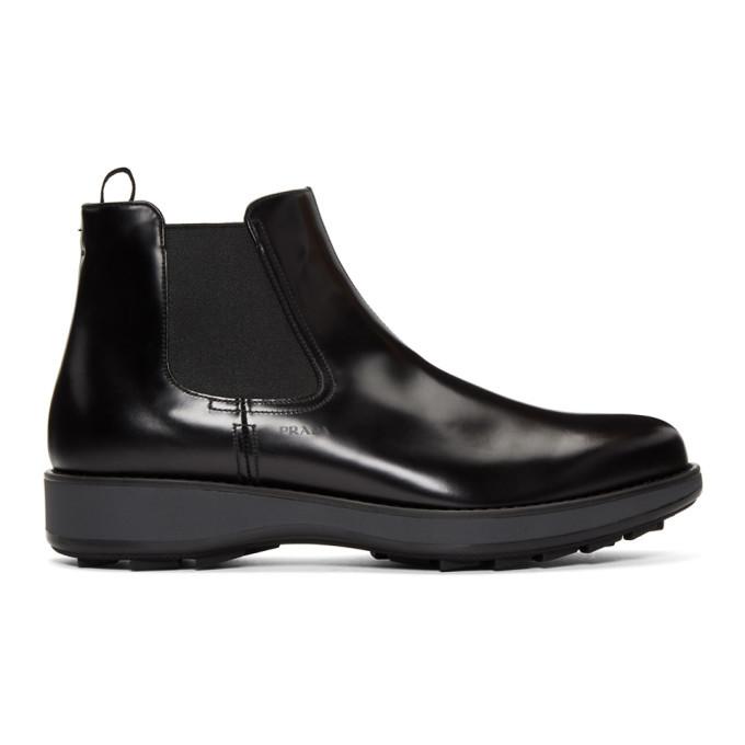 Photo: Prada Black Rois Chelsea Boots