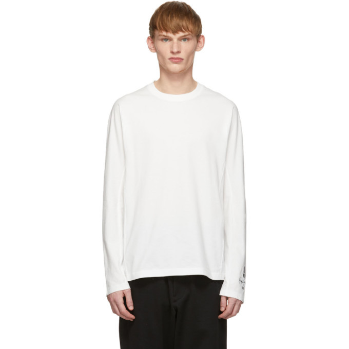 Photo: Y-3 White Classic Long Sleeve T-Shirt