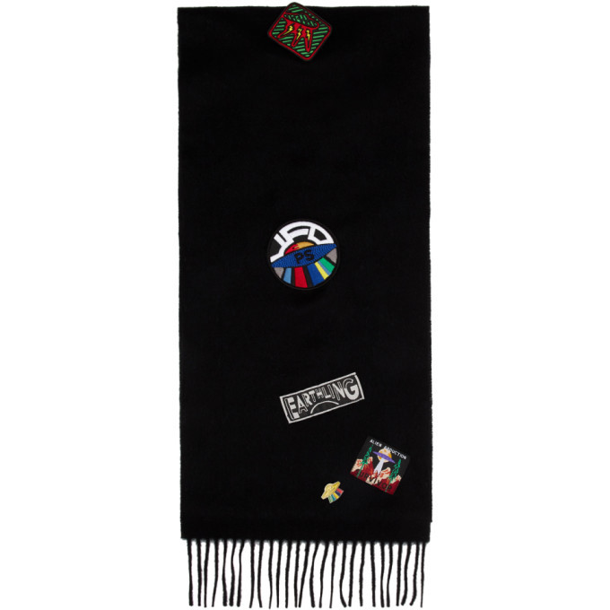 Photo: PS by Paul Smith Black Wool UFO Scarf