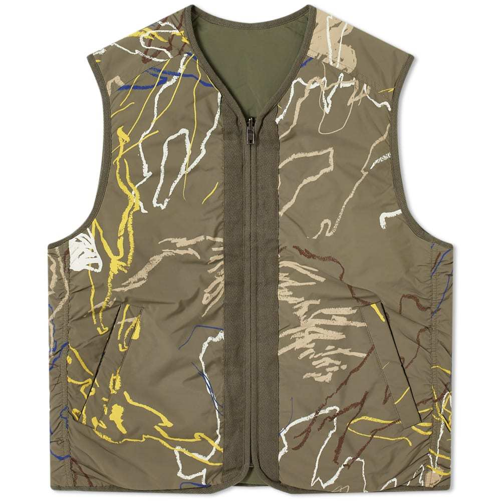 Photo: Wood Wood Reversble Victor All Over Print Vest