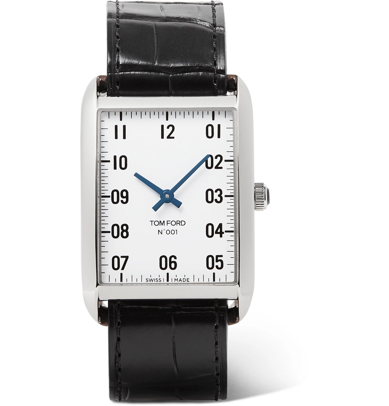 Photo: Tom Ford Timepieces - 001 Stainless Steel and Alligator Watch - White