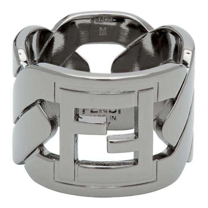 Photo: Fendi Black Forever Fendi Chain Ring