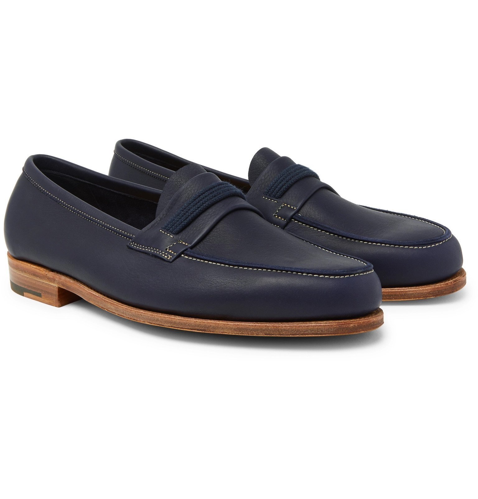 Photo: John Lobb - Tore Leather Penny Loafers - Blue