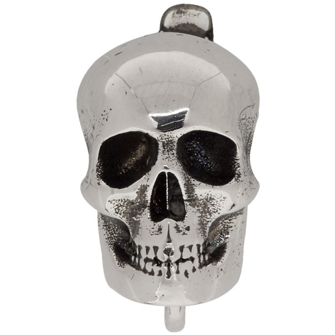 Photo: Alexander McQueen Silver Skull Earring