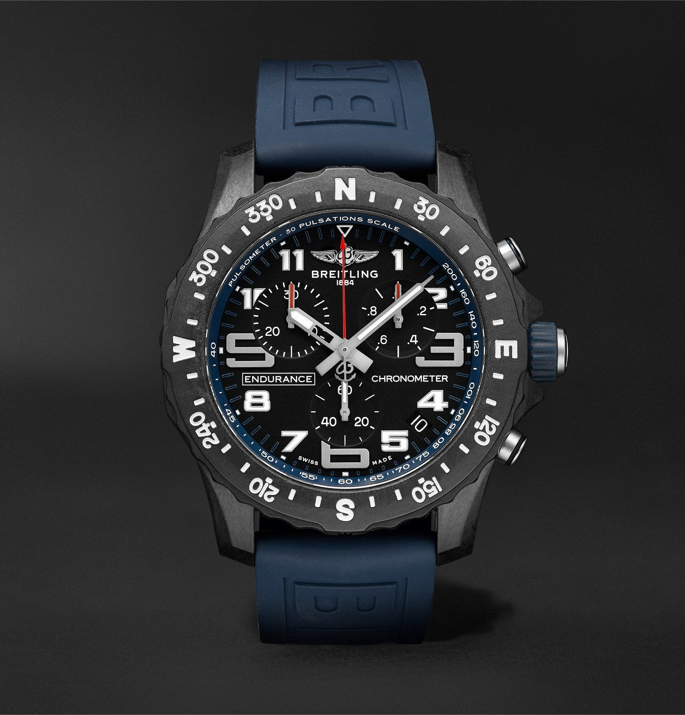 Photo: Breitling - Endurance Pro SuperQuartz Chronograph 44mm Breitlight and Rubber Watch, Ref. No. X82310D51B1S1 - Black