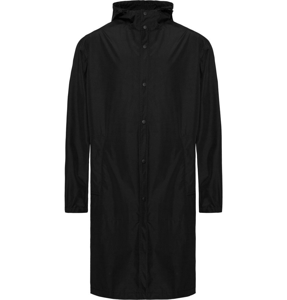Photo: Helmut Lang - Printed Shell Hooded Raincoat - Men - Black