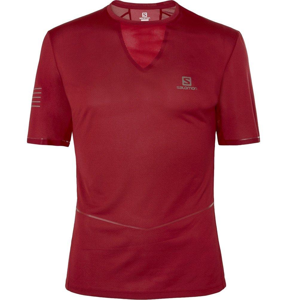 Photo: Salomon - Sense Ultra Slim-Fit Jersey T-Shirt - Burgundy