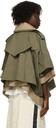 Sacai Khaki & Beige Melton Wool Jacket