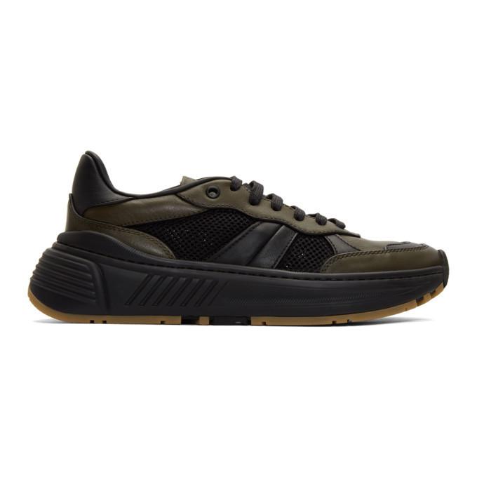 Photo: Bottega Veneta Green and Black Speedster Sneakers