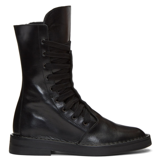 Photo: Ann Demeulemeester Black Lace-Up Boots