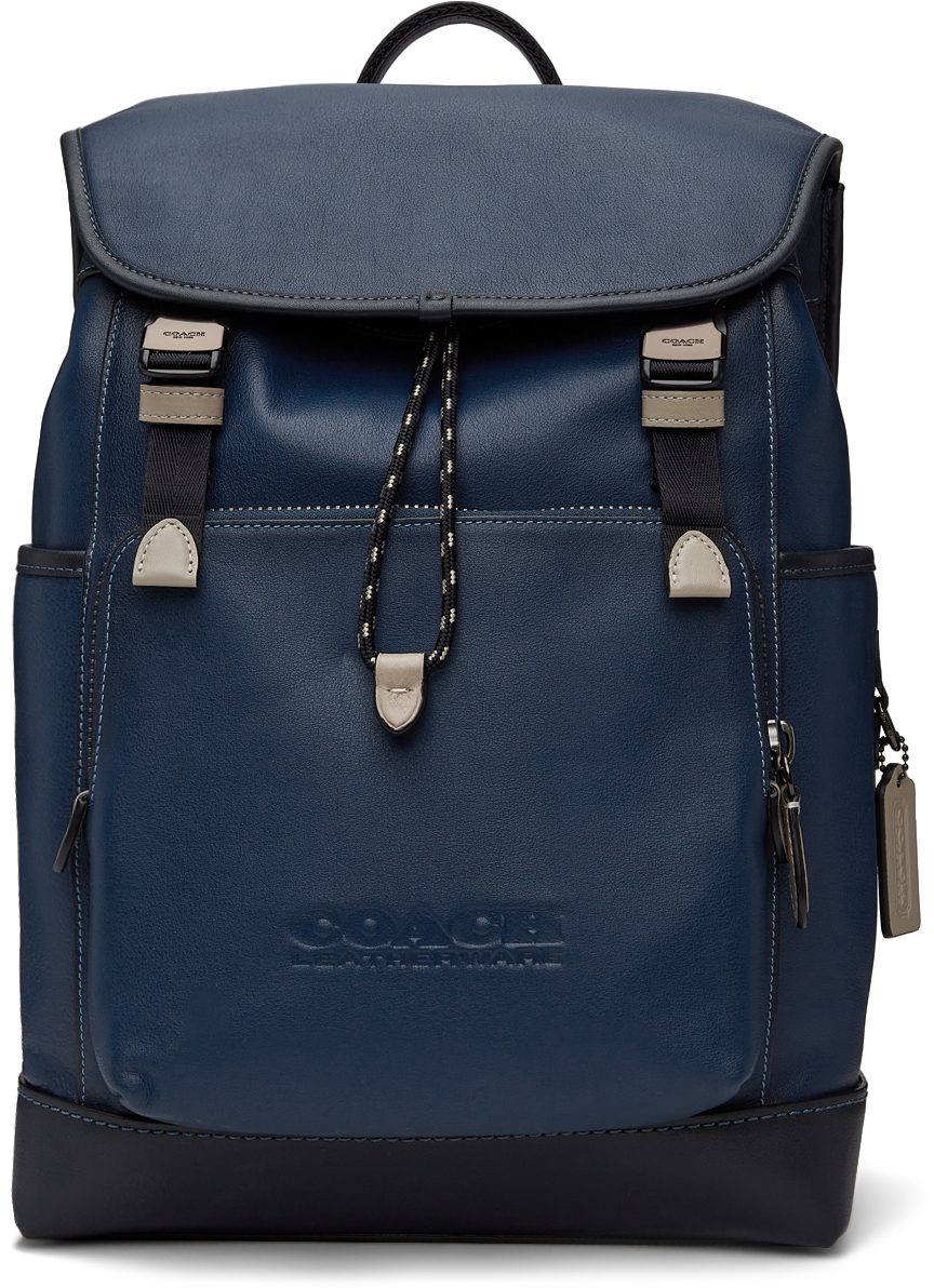 Photo: Coach 1941 Black & Navy League Flap Backpack