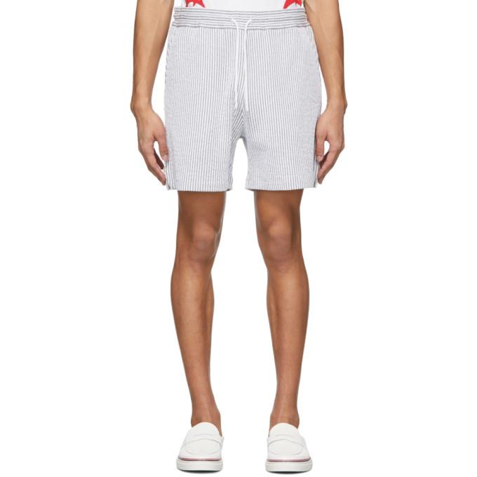 Photo: Thom Browne Grey Stripe Seersucker Shorts