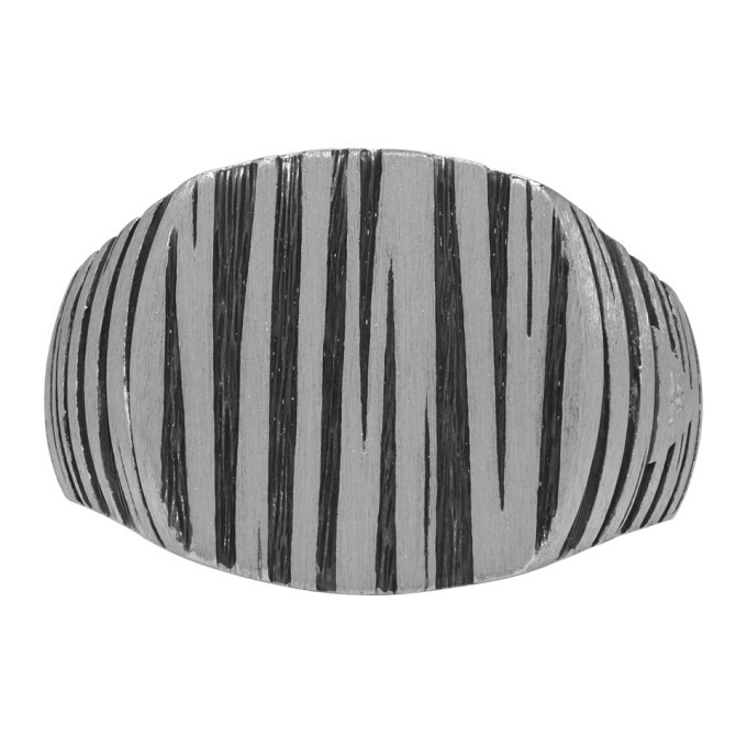 Photo: Tom Wood Silver and Black Cushion Structure Ring