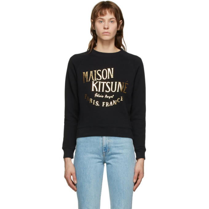 Photo: Maison Kitsune Black and Gold Palais Royal Sweatshirt