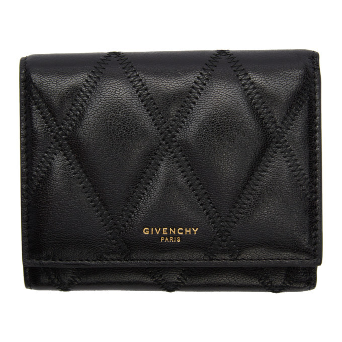 Photo: Givenchy Black Diamond Quilted Trifold Wallet