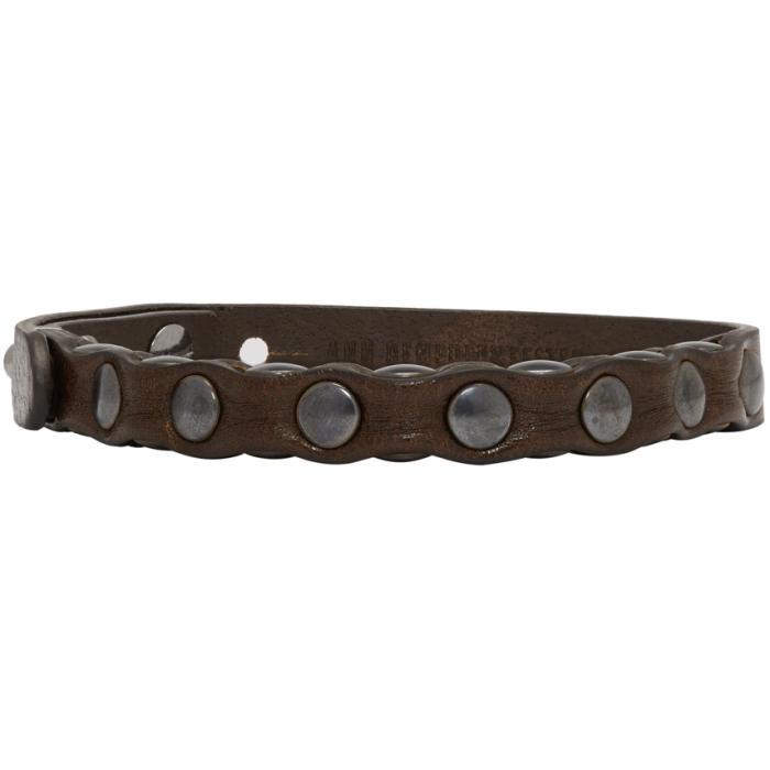 Photo: Ann Demeulemeester Brown Leather Yucatan Bracelet