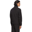 C.P. Company Black Nylon Half-Zip Over Shirt Jacket