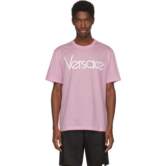 afecfcf6 Versace Pink Vintage Logo T-Shirt Versace