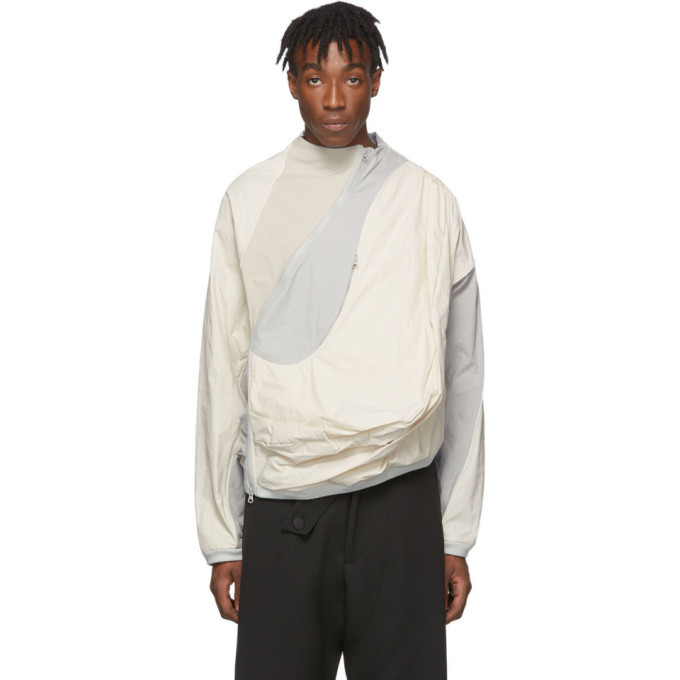 Photo: Post Archive Faction PAF Off-White and Grey 2.0 Center Jacket