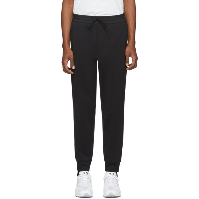 Photo: Y-3 Black Nylon Cuff Lounge Pants
