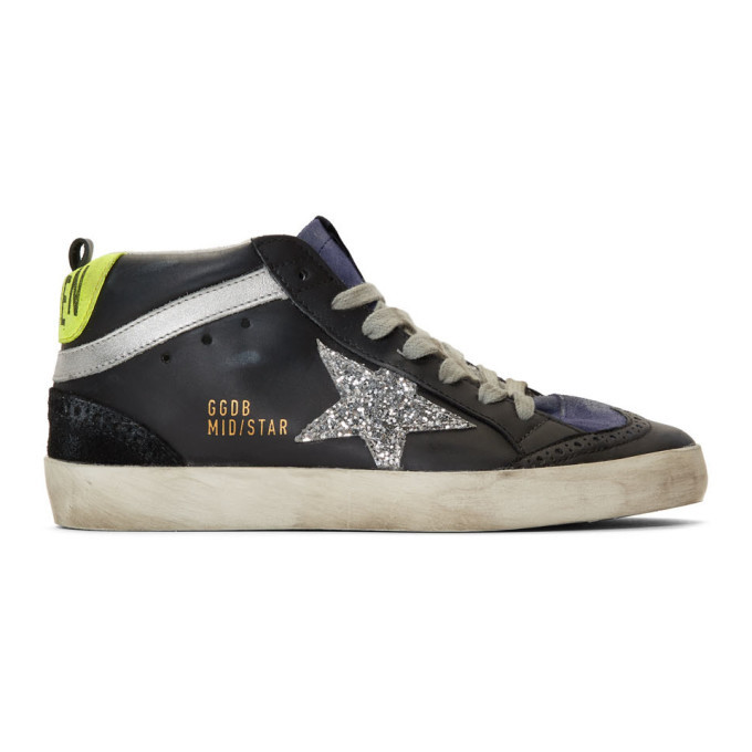 Golden Goose Black and Silver Glitter