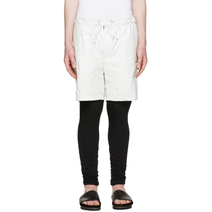Photo: Diet Butcher Slim Skin White Tyvek Layered Shorts