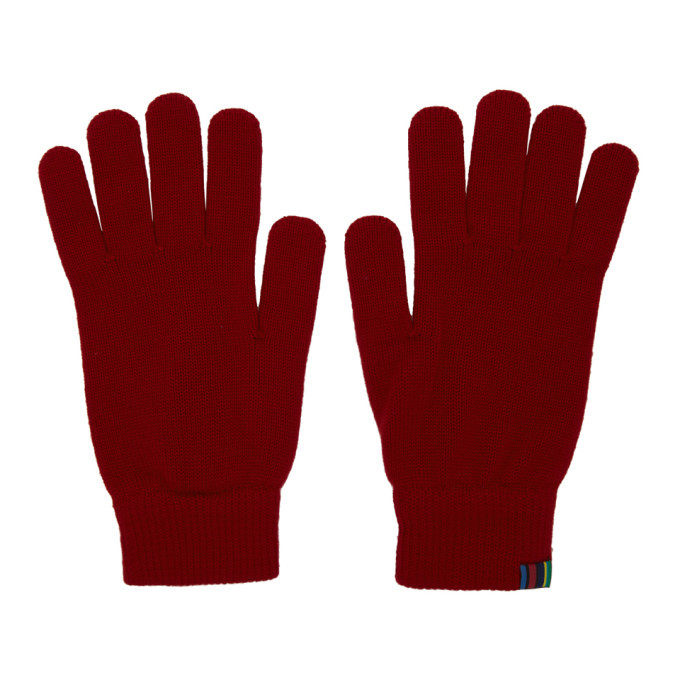 Photo: PS by Paul Smith Red Wool Gloves