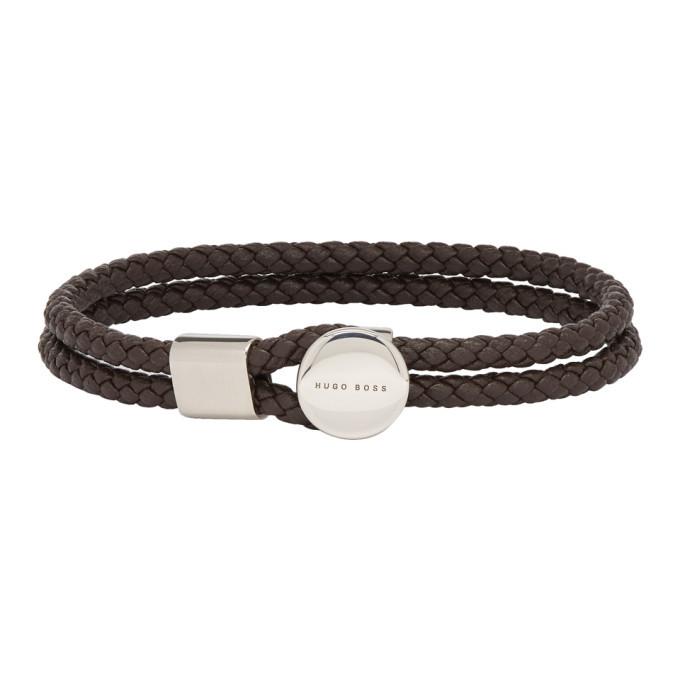 Photo: Boss Brown Bertold Double Wrap Braided Bracelet