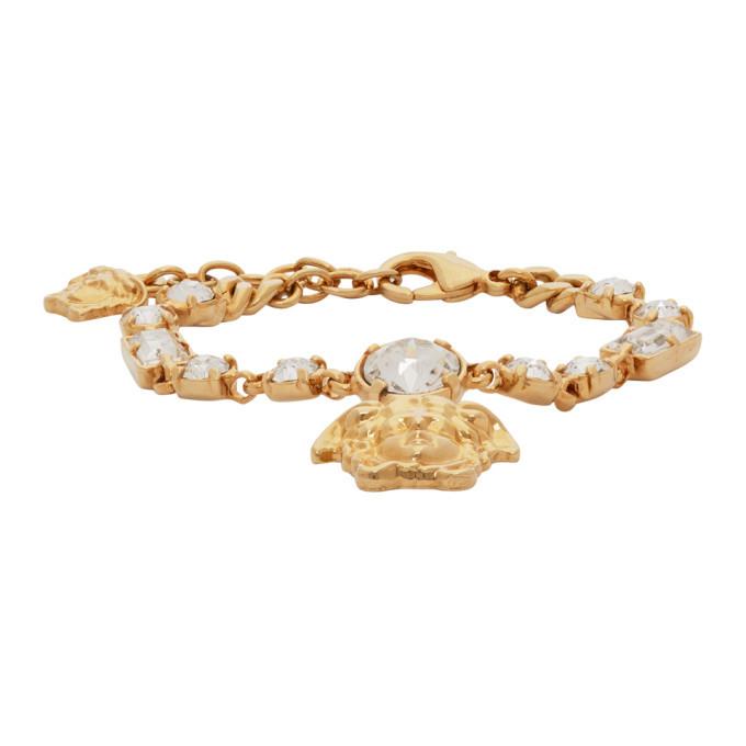 Photo: Versace Gold Medusa Pendant Chain Bracelet