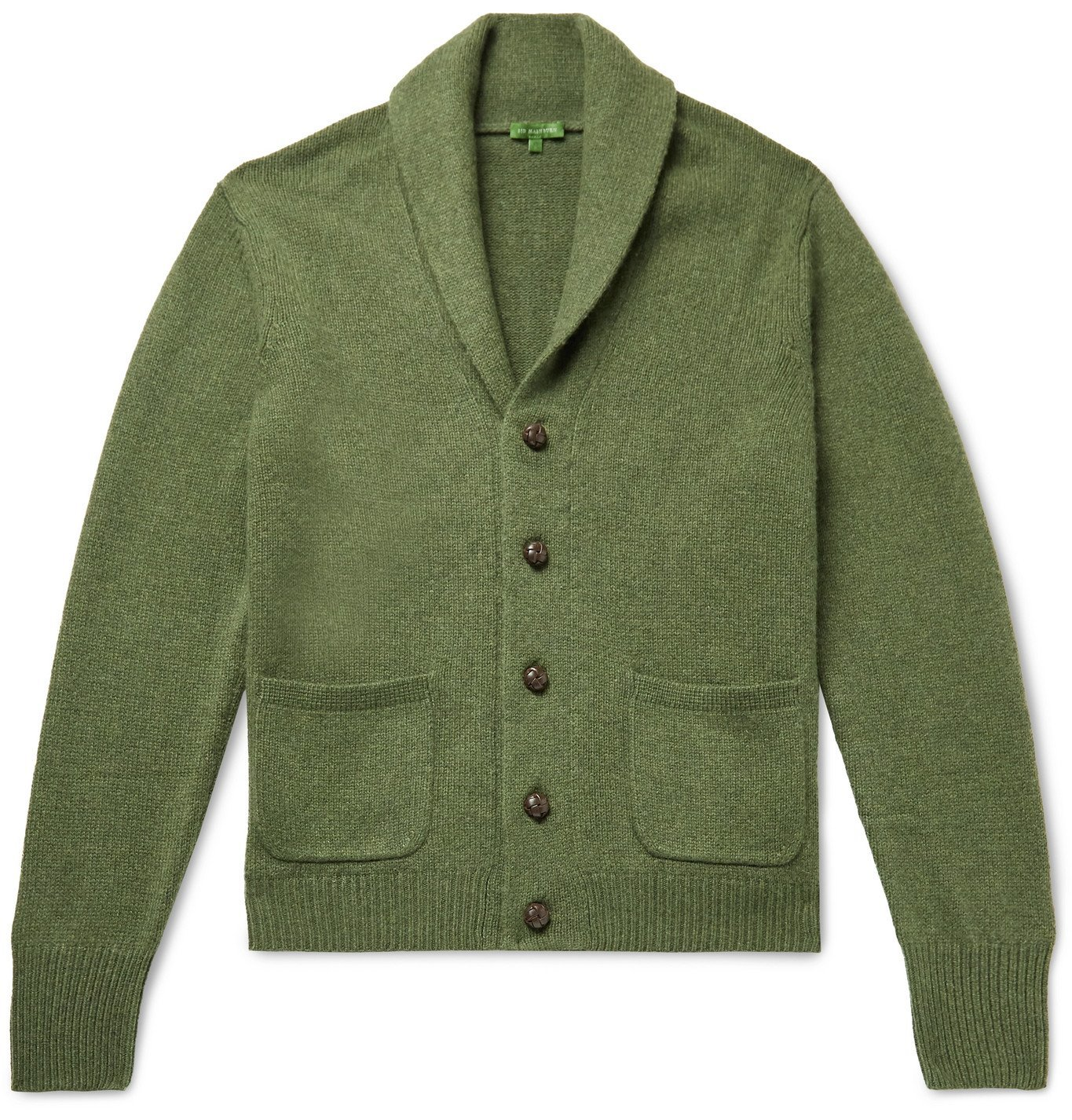 Photo: Sid Mashburn - Slim-Fit Shawl-Collar Merino Wool-Blend Cardigan - Green