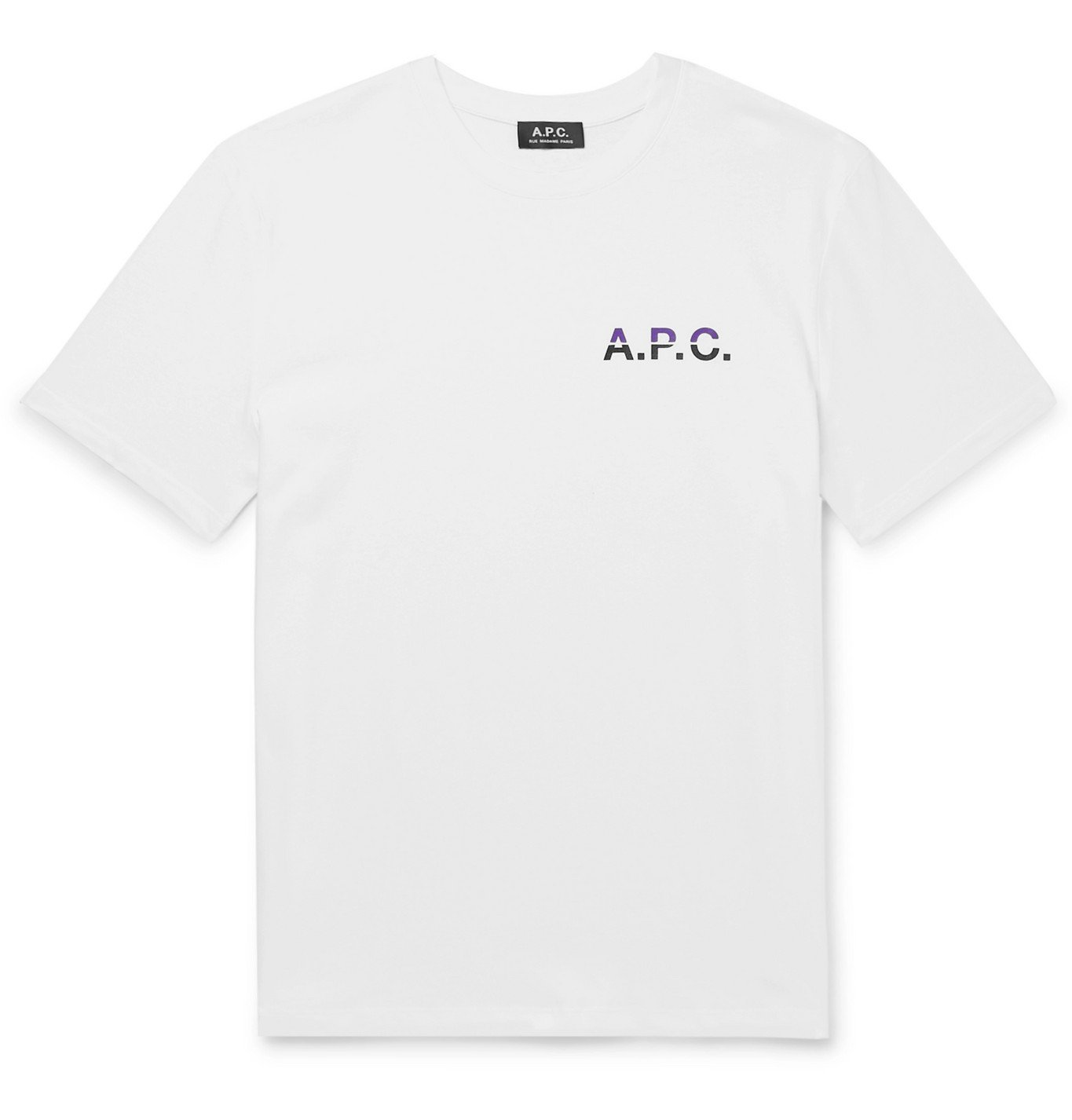 Photo: A.P.C. - Logo-Print Cotton-Jersey T-Shirt - White