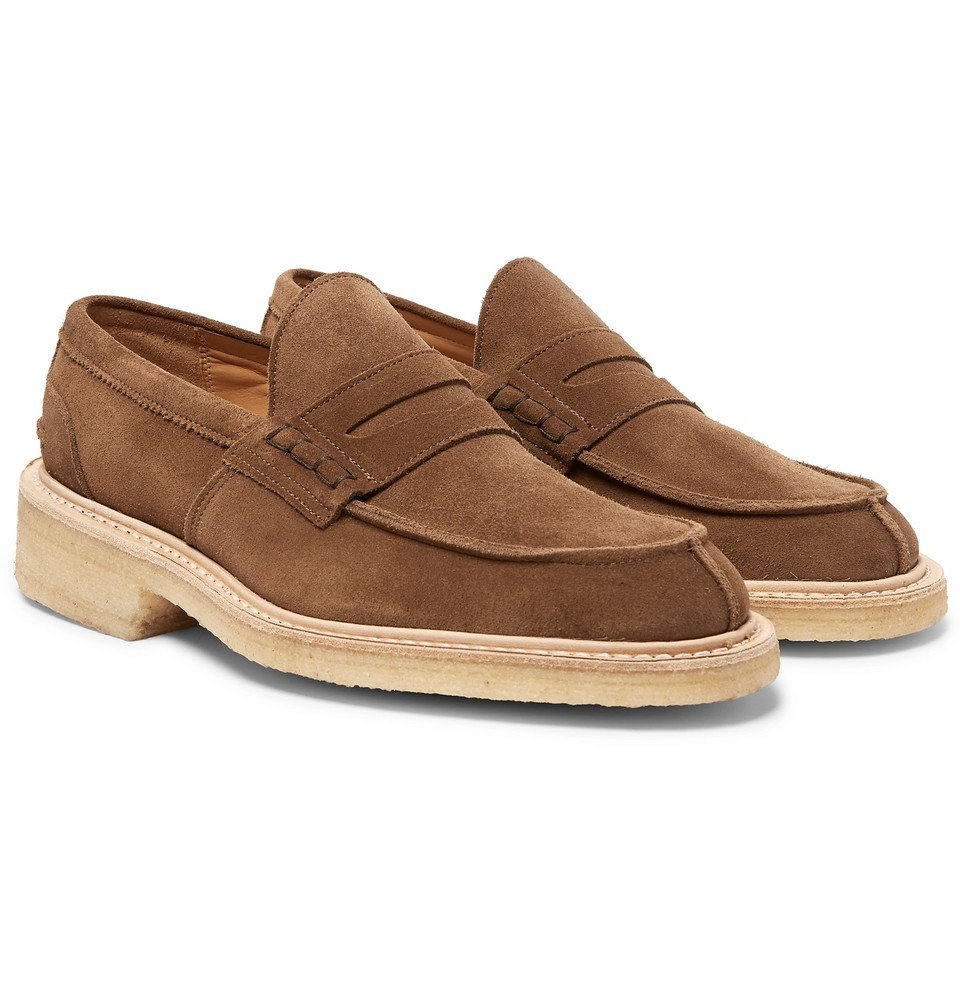 Photo: Tricker's - James Suede Penny Loafers - Brown
