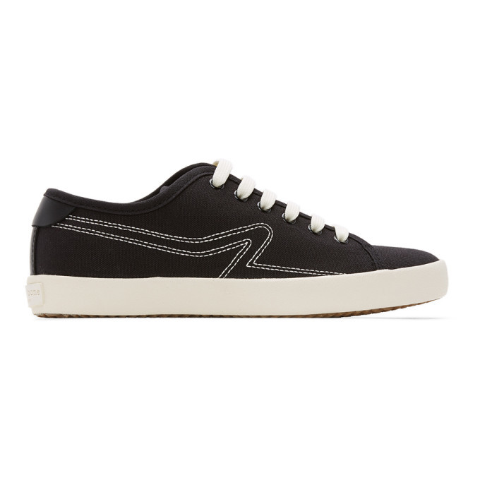 Photo: rag and bone Black Canvas Court Sneakers