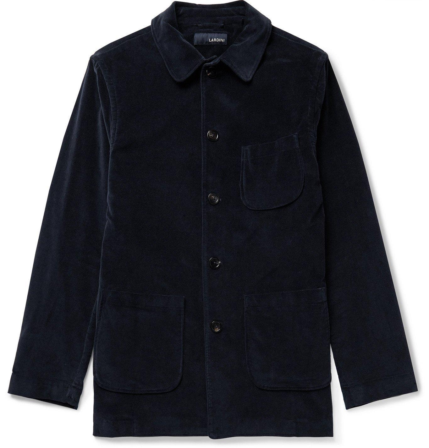 Photo: Lardini - Imrenzo Stretch-Cotton Velvet Chore Jacket - Blue