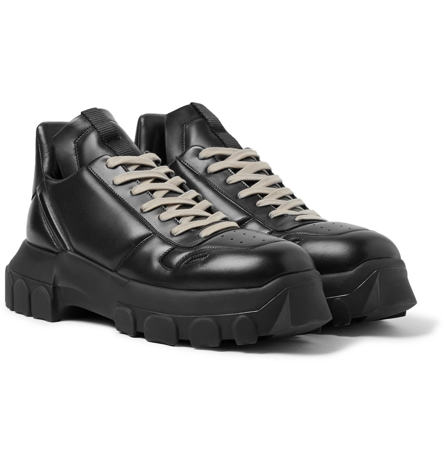 Photo: Rick Owens - Leather Sneakers - Black