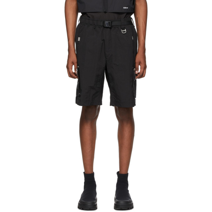 Photo: C2H4 Black Side Pockets Track Shorts