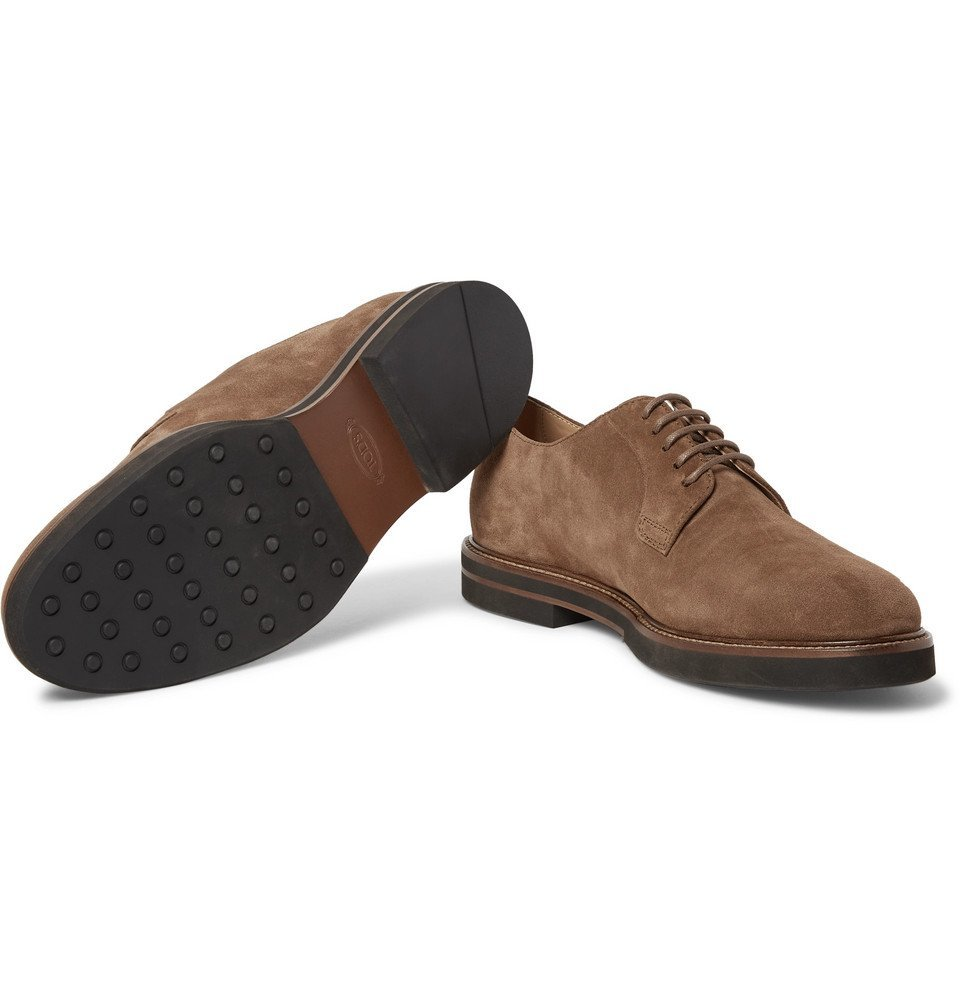 Tod's - Suede Derby Shoes - Men - Light brown