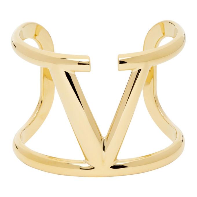 Photo: Valentino Gold Valentino Garavani VLogo Bracelet
