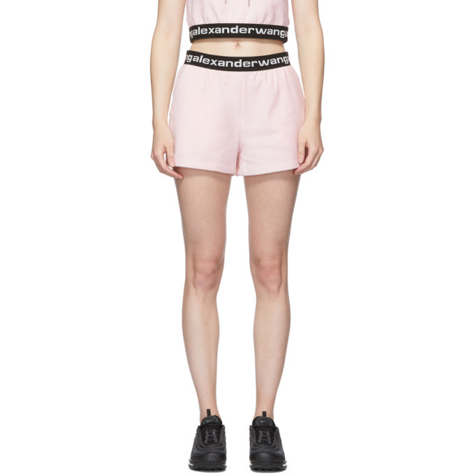 Photo: alexanderwang.t Pink Stretch Logo Shorts