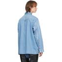 Martine Rose Blue Denim Stripe Paneled Shirt