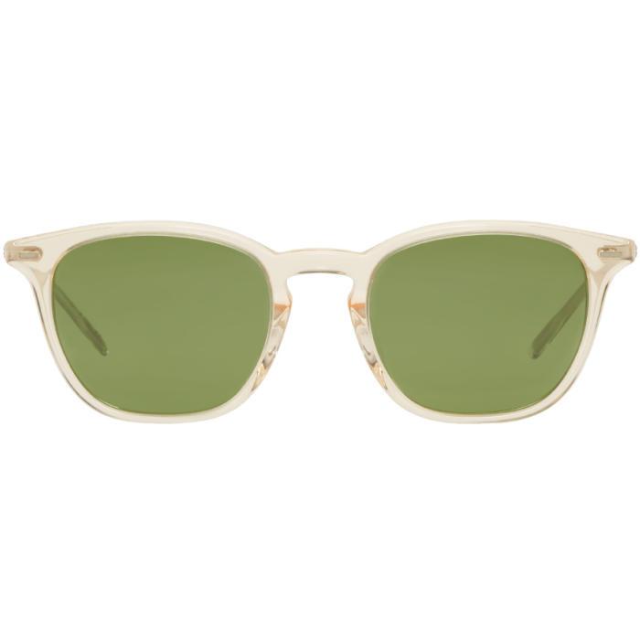 Oliver Peoples Beige Heaton Sunglasses