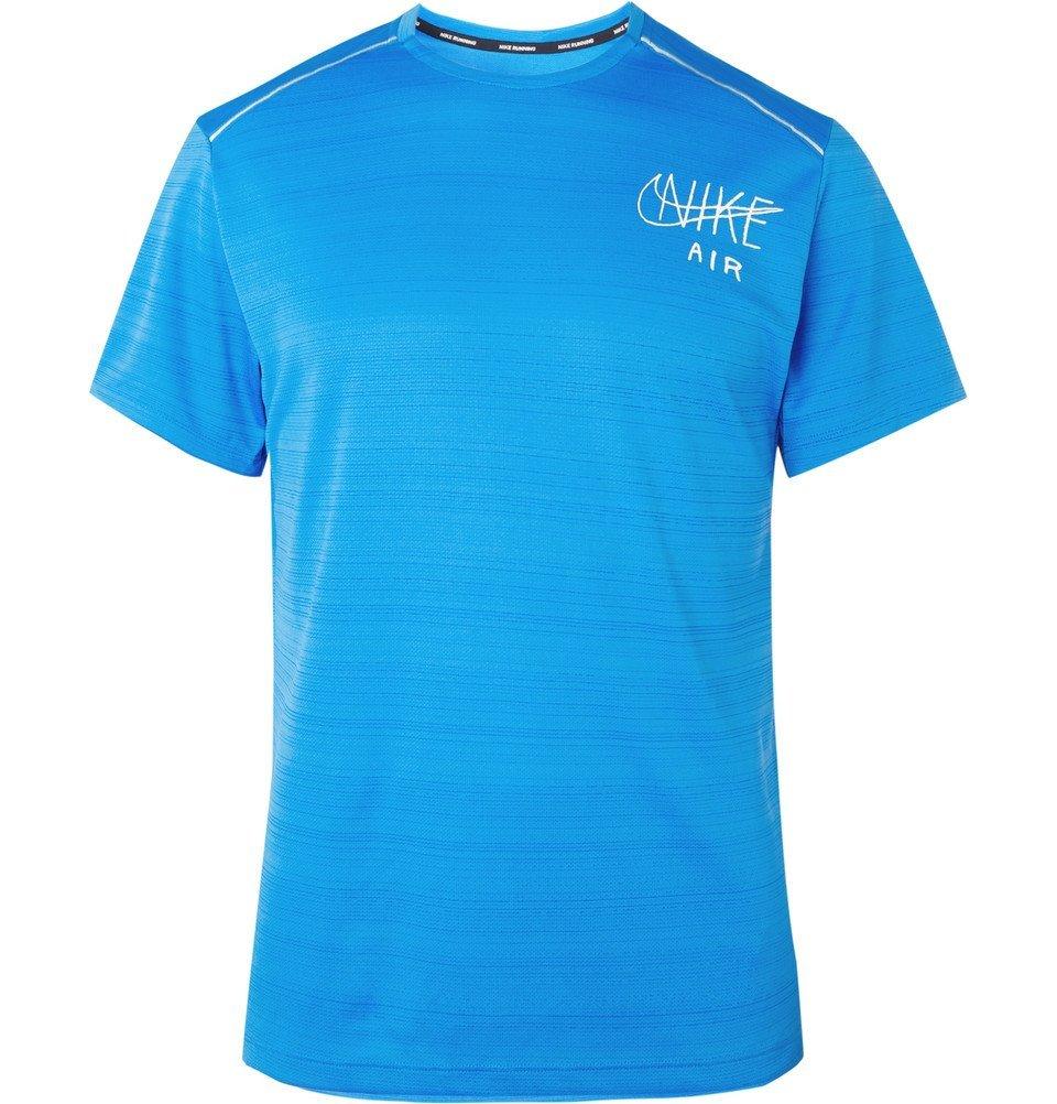 Nike Running - Miler Logo-Print Dri-FIT T-Shirt - Men - Blue