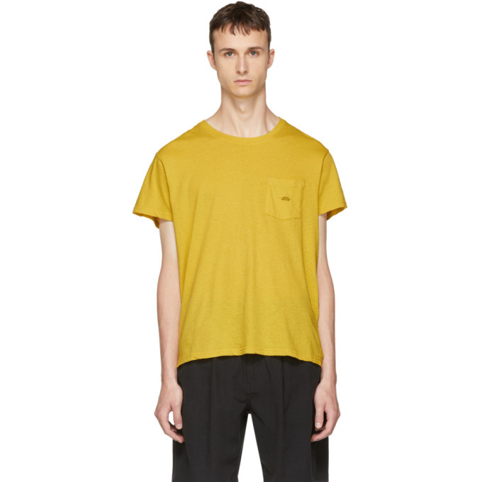 Yellow Spiral Pocket T-Shirt Second/Layer Low Price Online HObphffpi